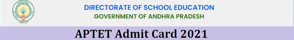 APTET Admit Card 2021