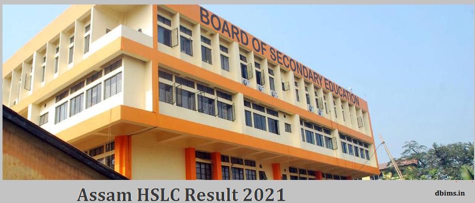 Assam HSLC Result 2021