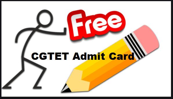 CGTET Admit Card
