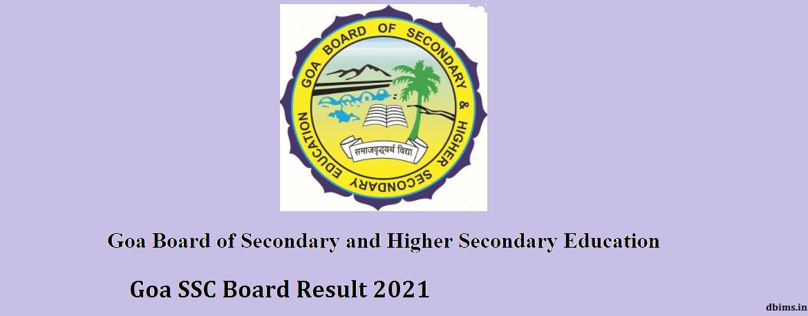 Goa SSC Board Result 2021