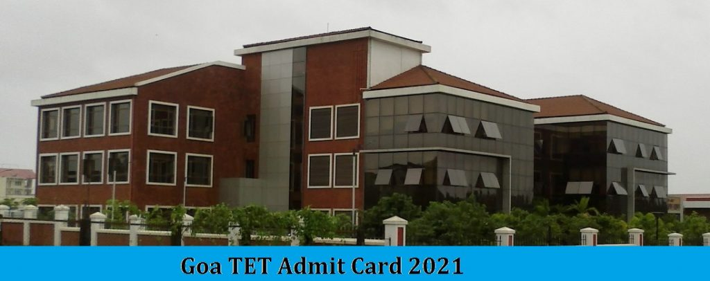 Goa TET Admit Card 2021