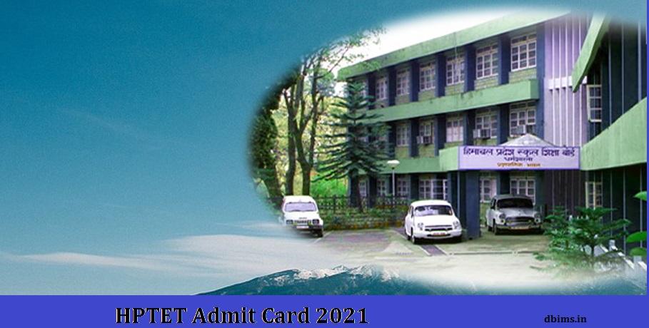 HPTET Admit Card 2021
