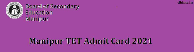 Manipur TET Admit Card 2021