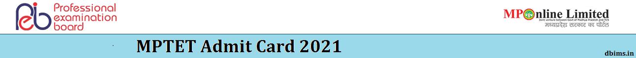MPTET Admit Card 2021