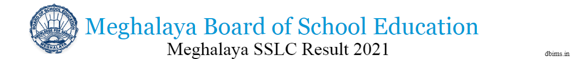 Meghalaya SSLC Result 2021
