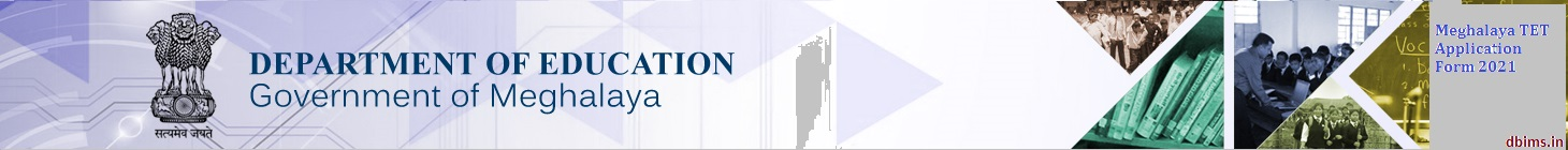 Meghalaya TET Application Form 2021