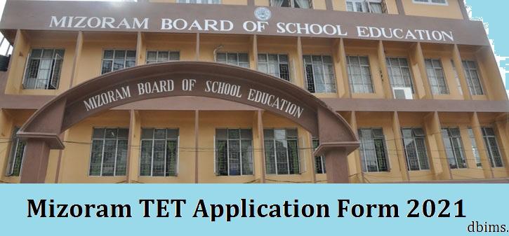 Mizoram TET Application Form 2021