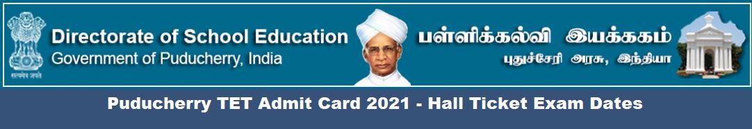 Puducherry TET Admit Card