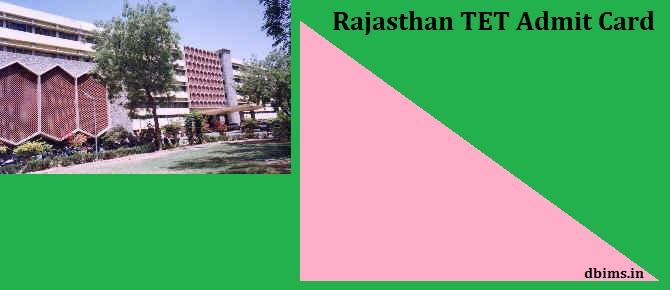 Rajasthan TET Admit Card 2021