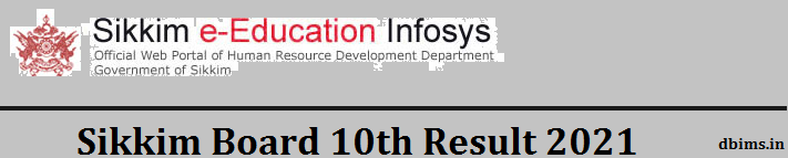 Sikkim Board 10th Result 2021