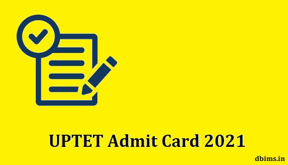 UPTET Admit Card 2021