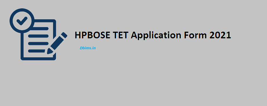 HPBOSE TET Application Form 2021