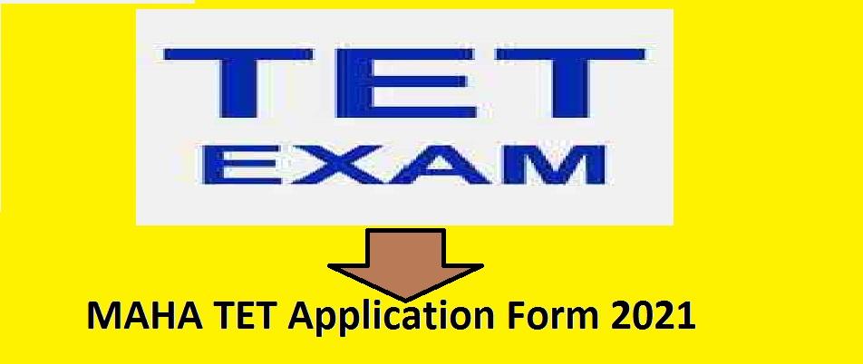MAHA TET Application Form 2021