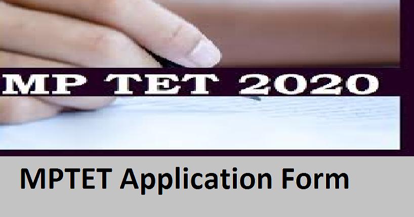 MPTET Application Form 2021