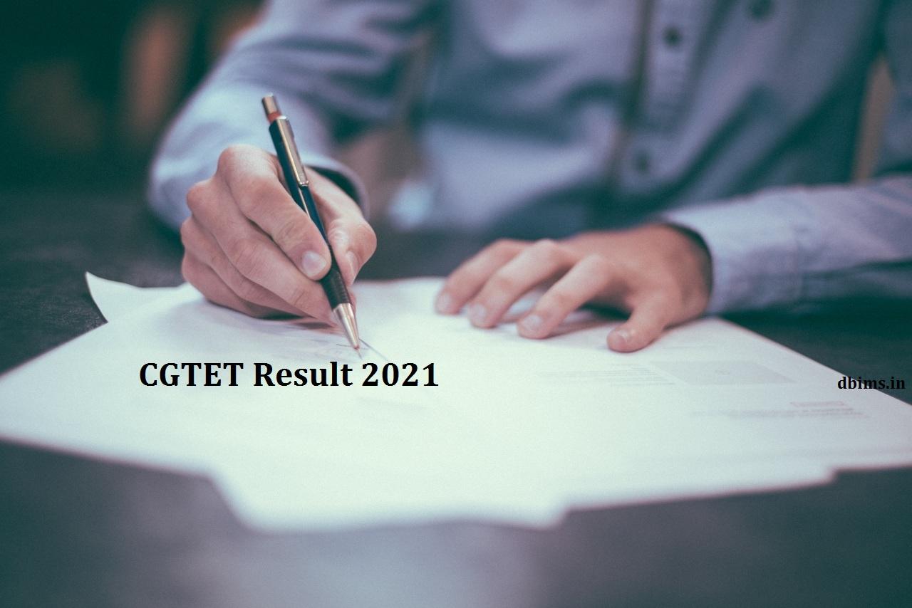 CGTET Result 2021