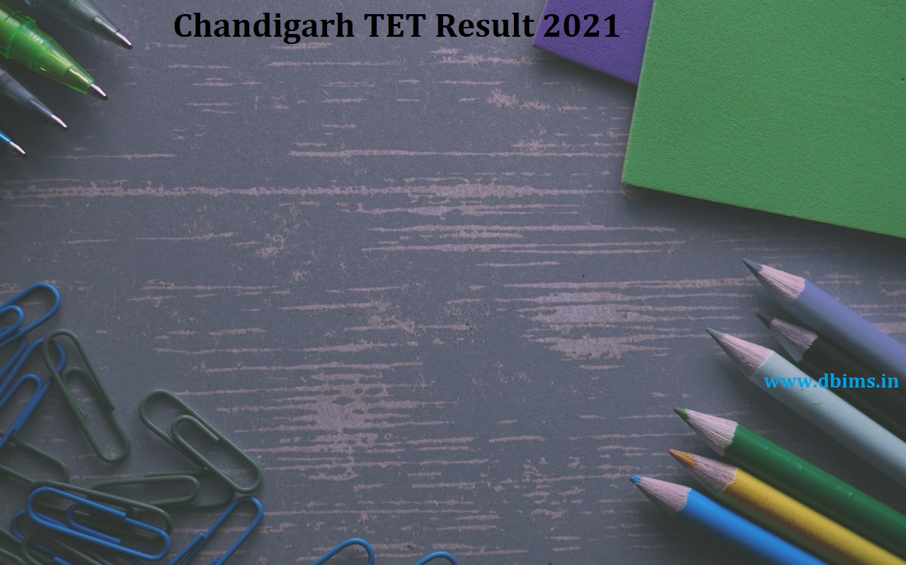 Chandigarh TET Result 2021