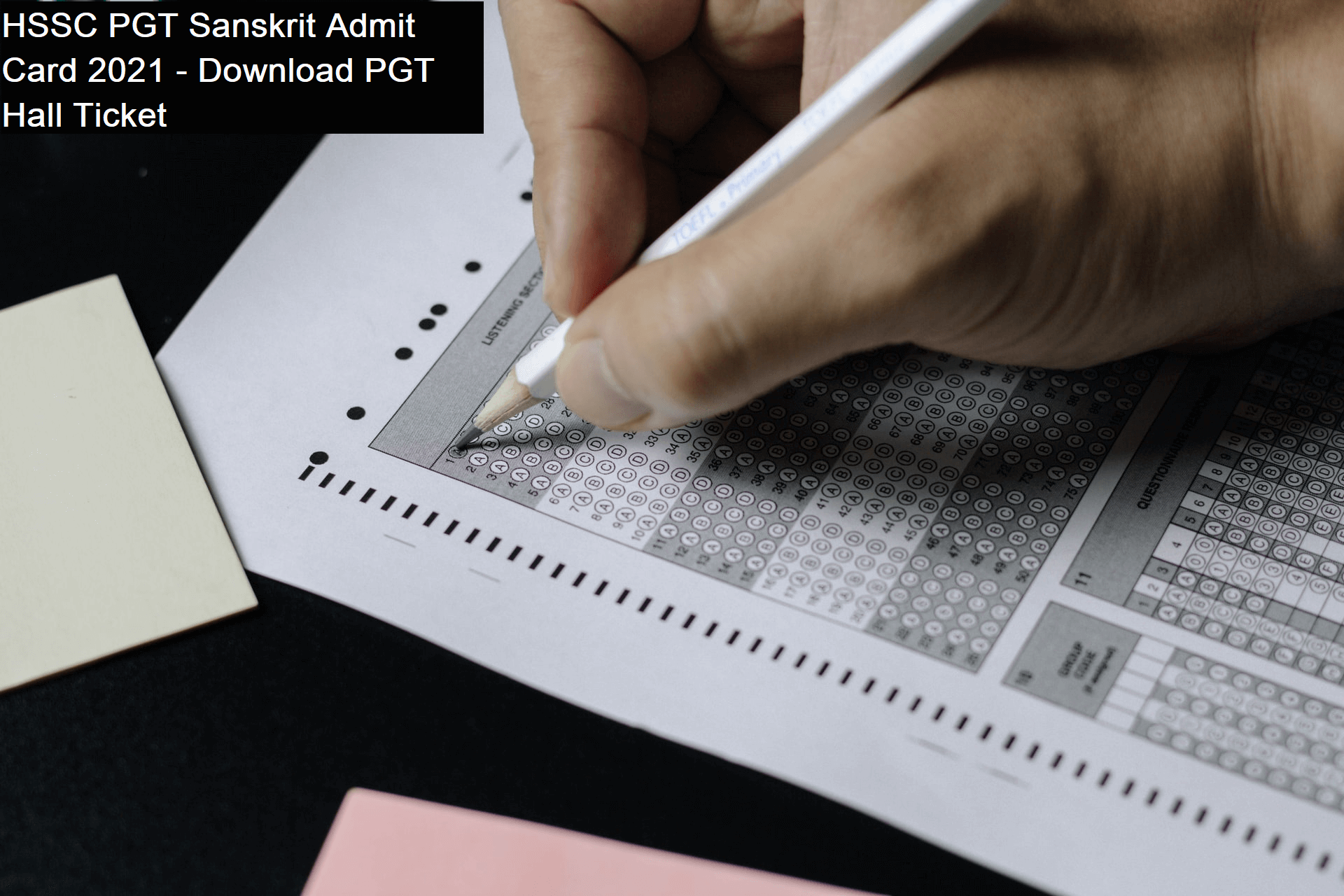 HSSC PGT Sanskrit Admit Card