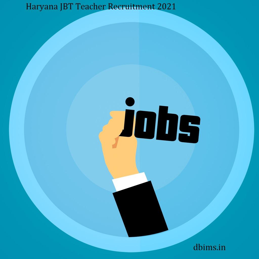 Haryana JBT Teacher Recruitment