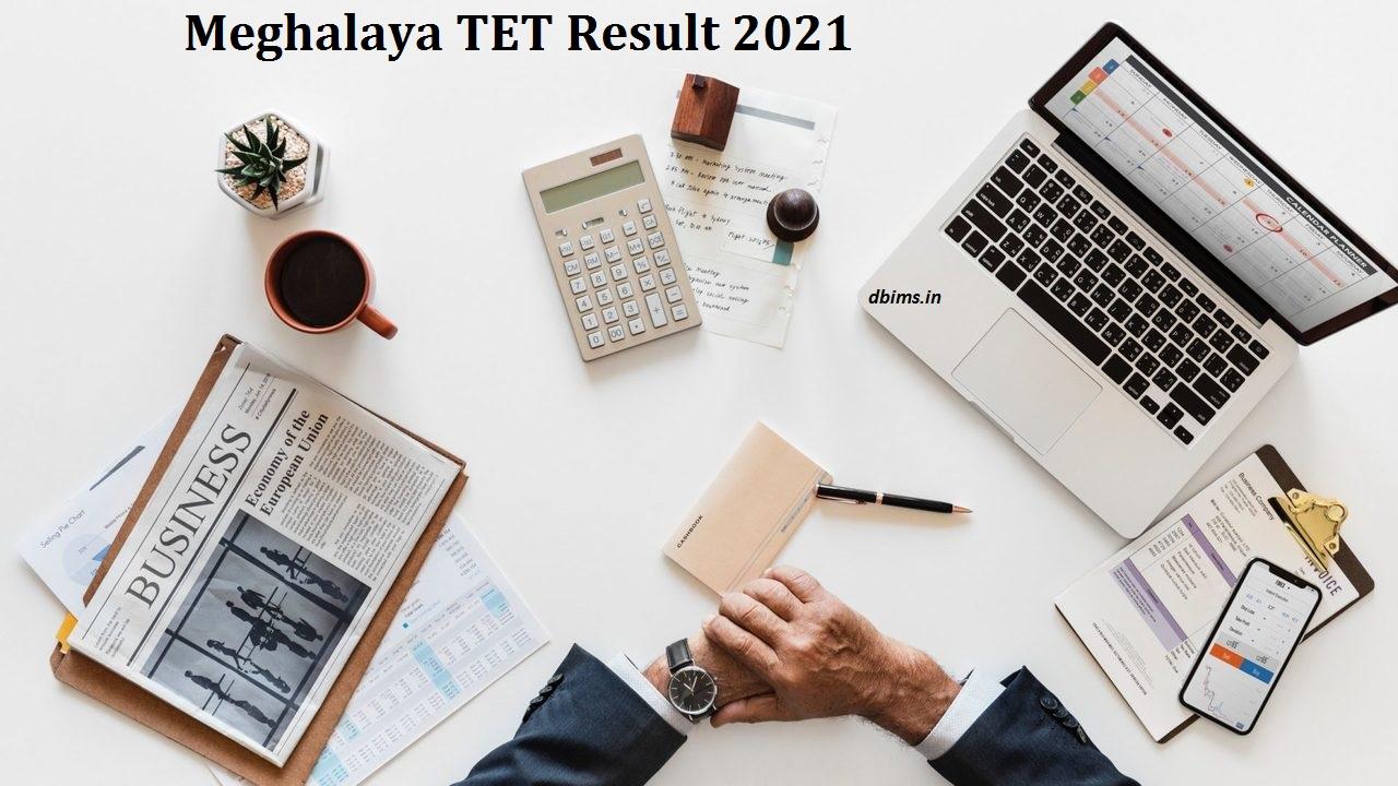 Meghalaya TET Result 2021