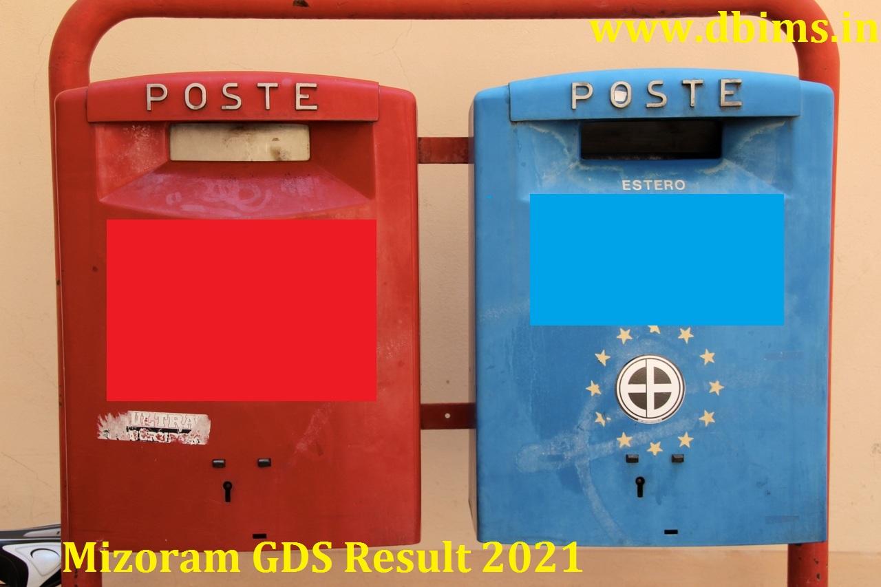 Mizoram GDS Result 2021
