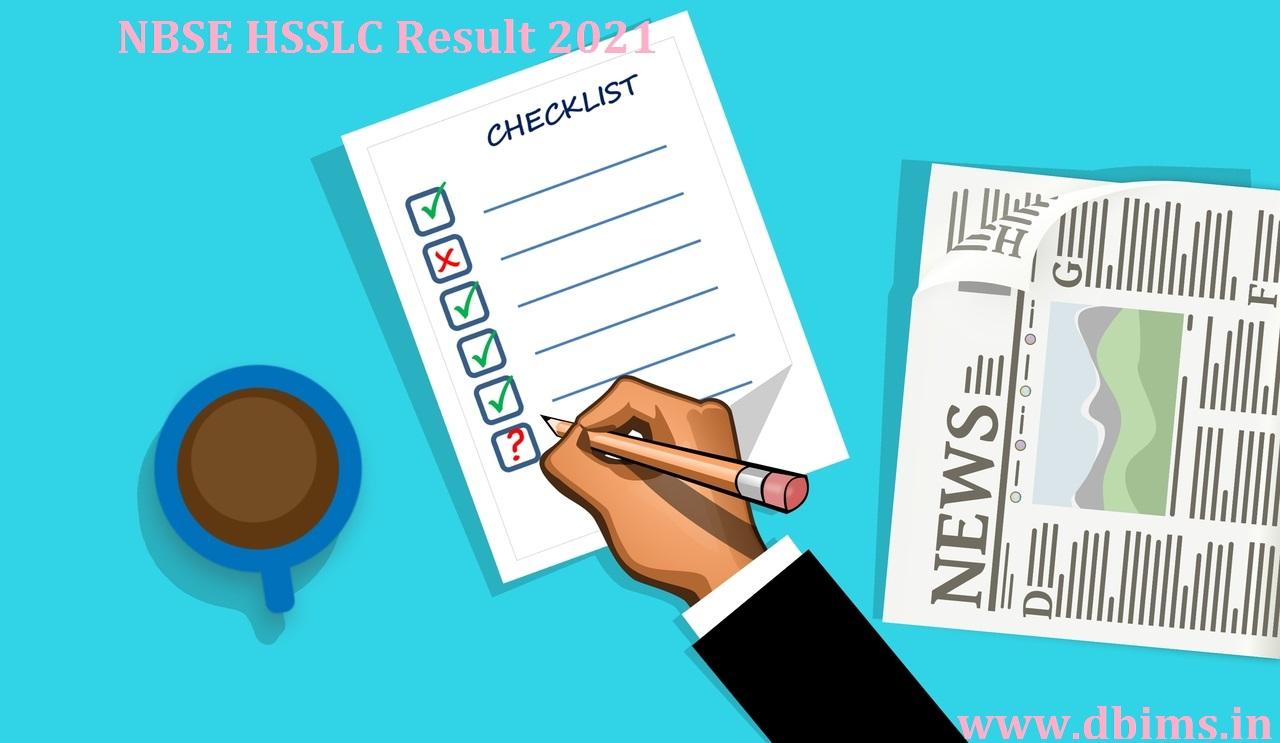 NBSE HSSLC Result 2021