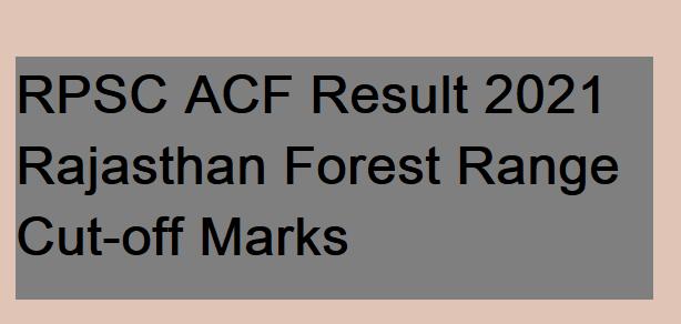RPSC ACF Result