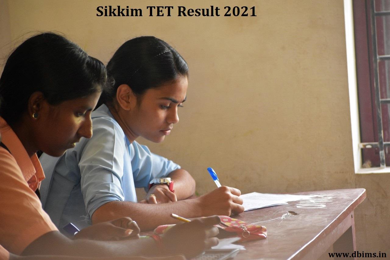 Sikkim TET Result 2021