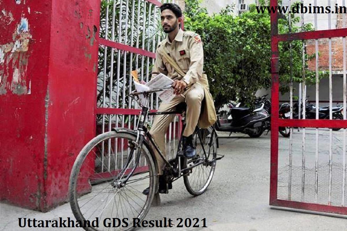 Uttarakhand GDS Result 2021
