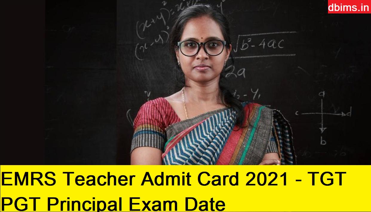 EMRS Teacher Admit Card