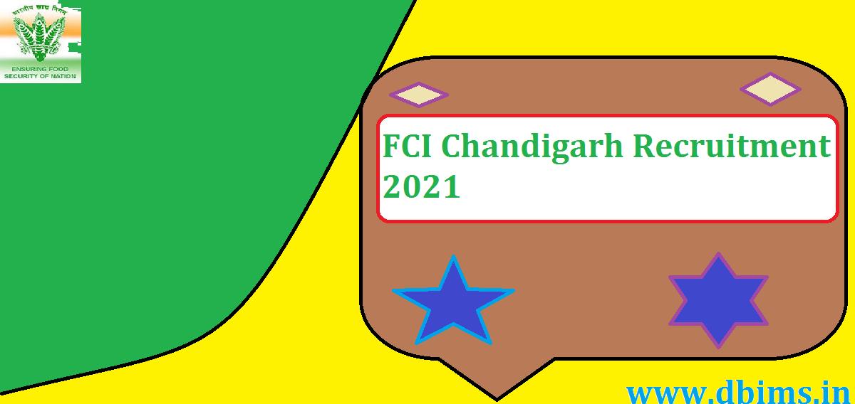 FCI Chandigarh Recruitment 2021
