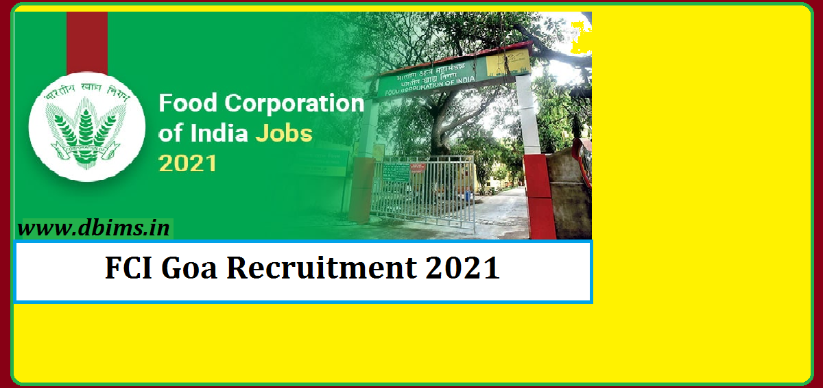 FCI Goa Recruitment 2021