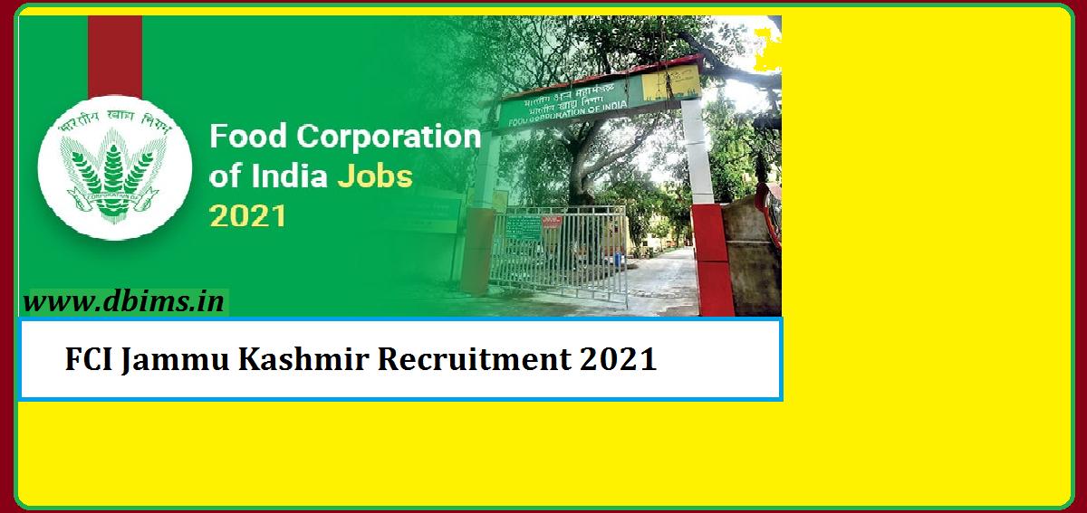FCI Jammu Kashmir Recruitment 2021