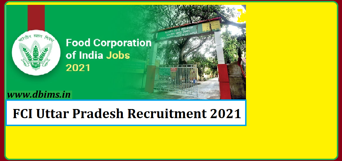 FCI Uttar Pradesh Recruitment 2021
