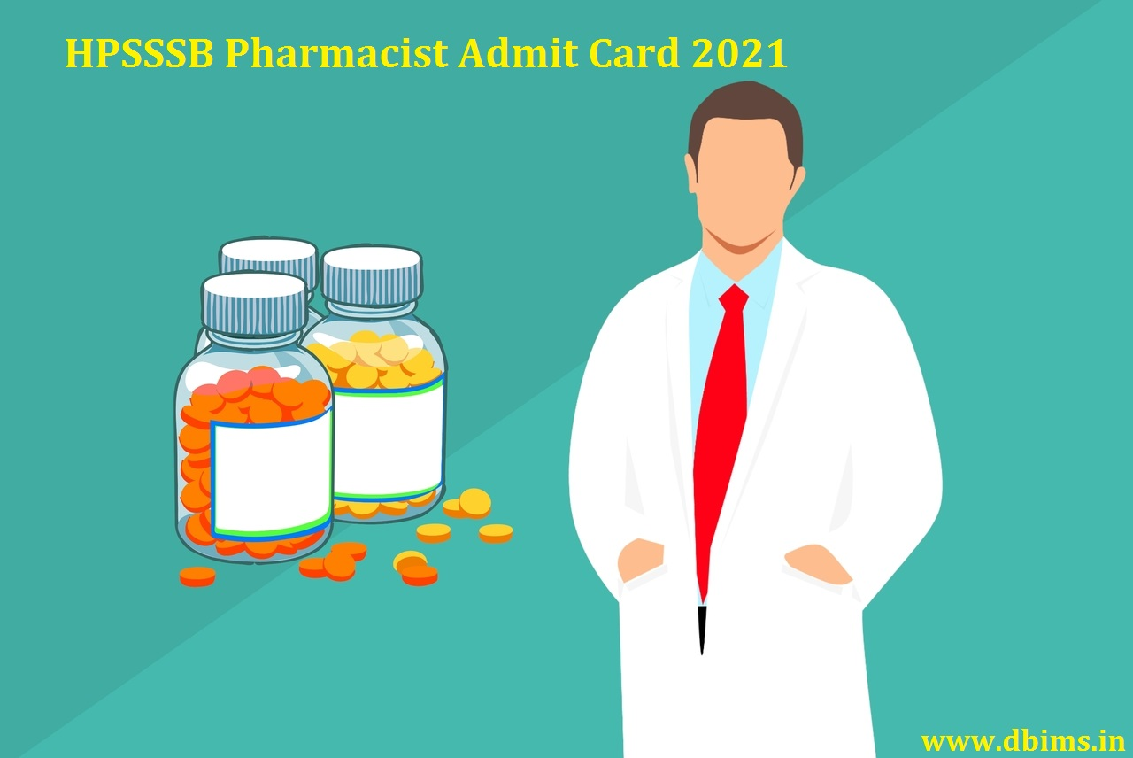 HPSSSB Pharmacist Admit Card 2021