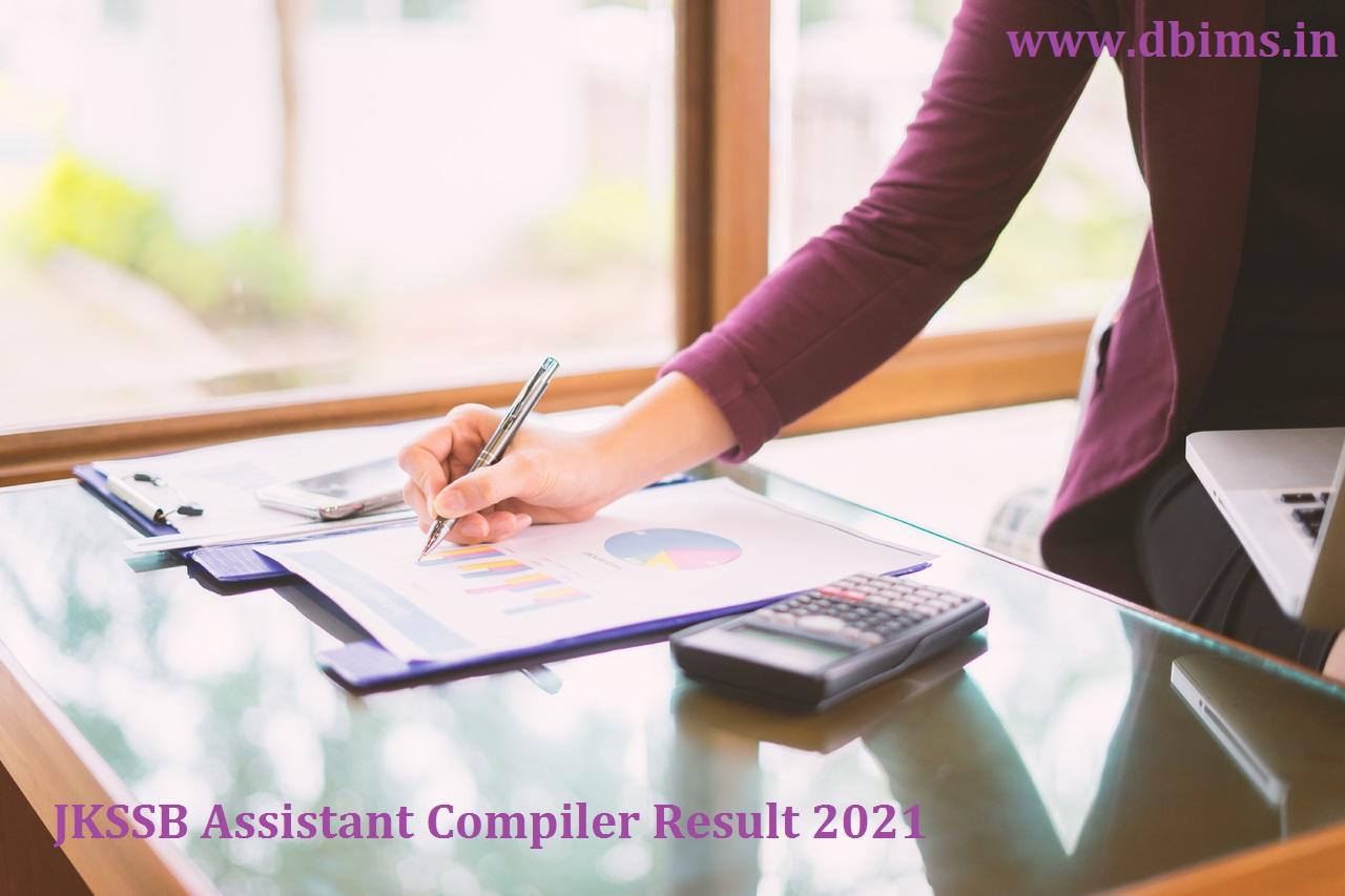JKSSB Assistant Compiler Result 2021