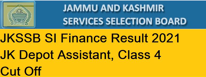 JKSSB SI Finance Result