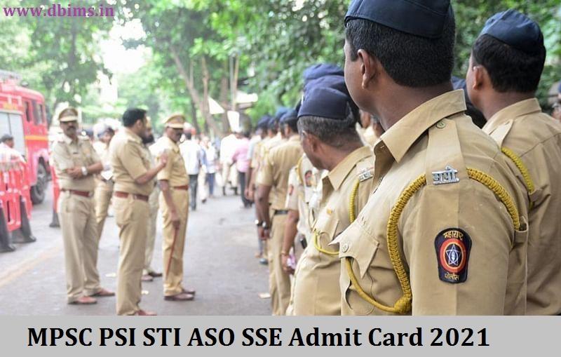 MPSC PSI STI ASO SSE Admit Card 2021