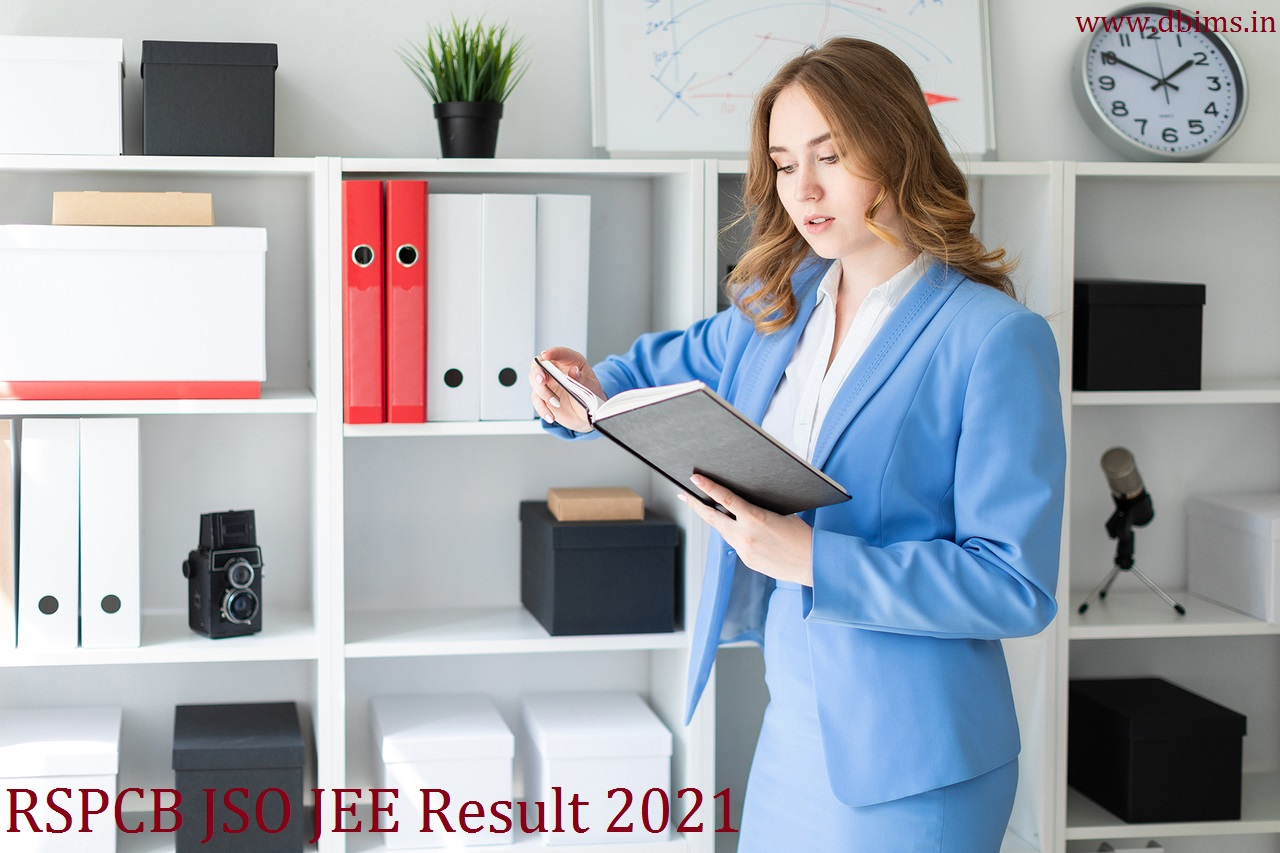 RSPCB JSO JEE Result 2021