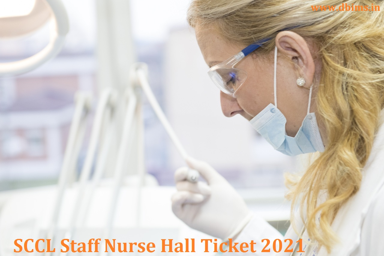 SCCL Staff Nurse Hall Ticket 2021