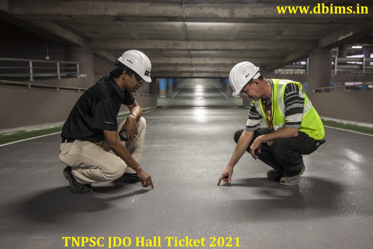 TNPSC JDO Hall Ticket 2021
