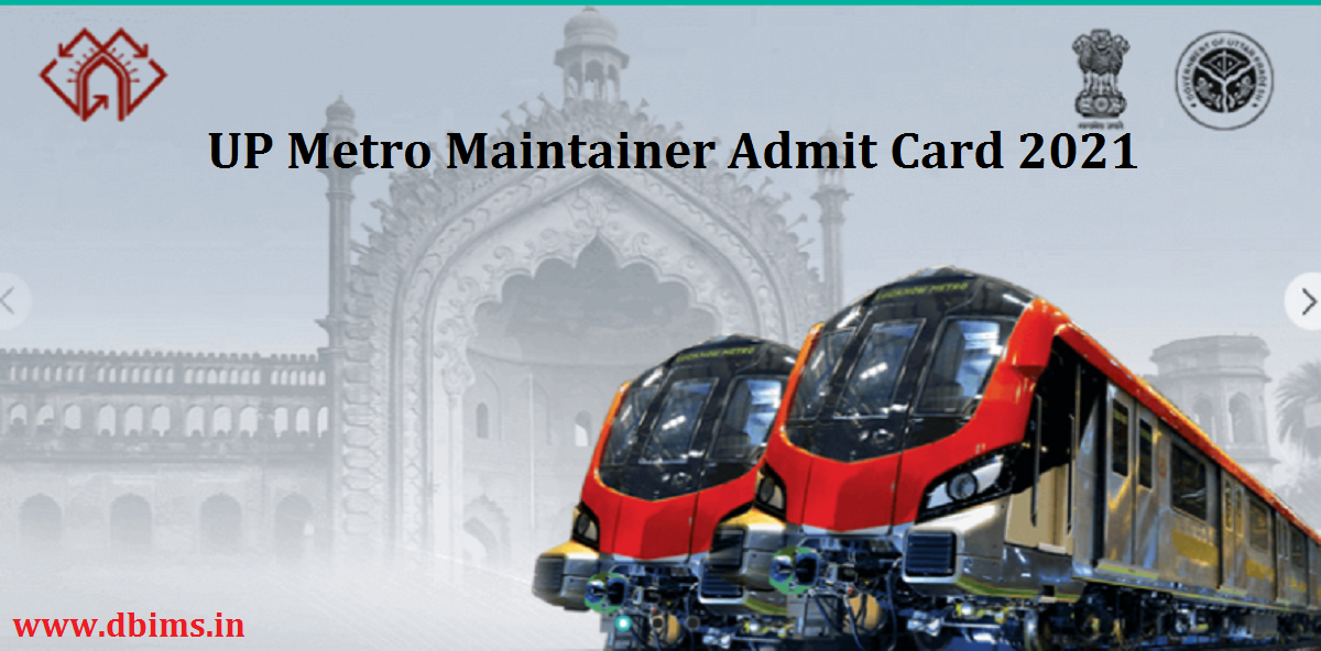 UP Metro Maintainer Admit Card 2021