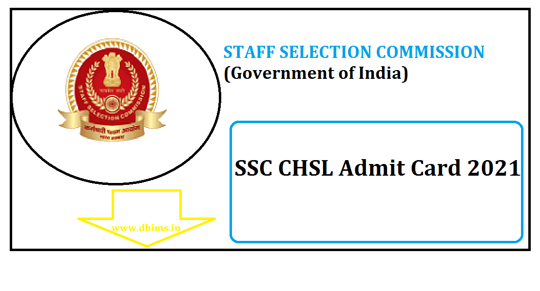 SSC CHSL Admit Card 2021