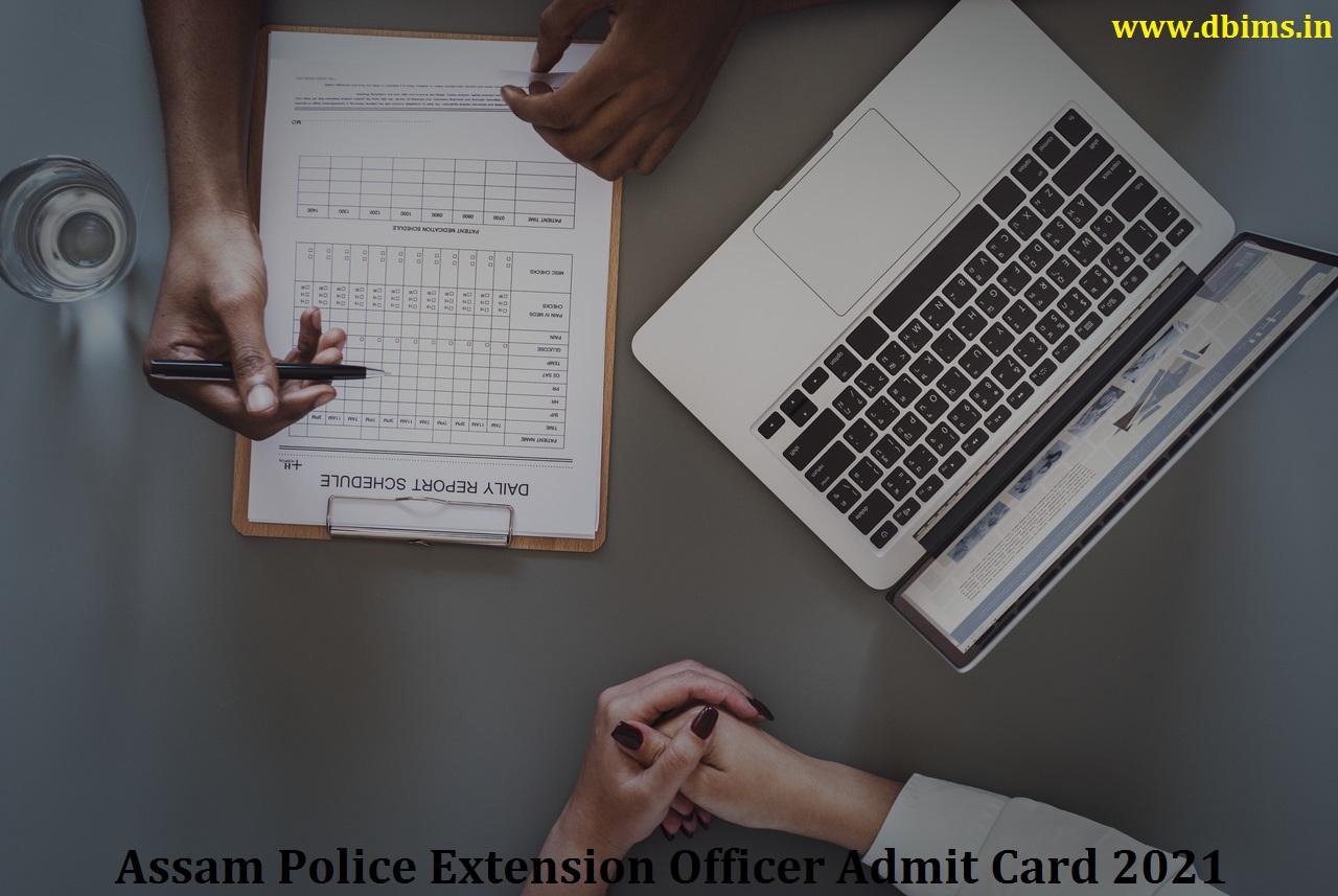 Assam Police Extension Officer Admit Card 2021