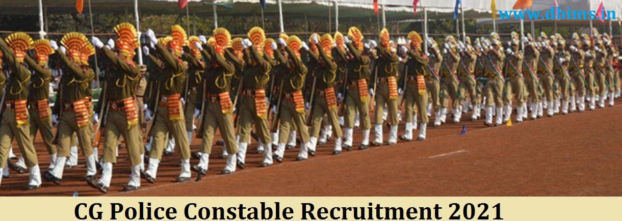CG Police Constable Recruitment 2021