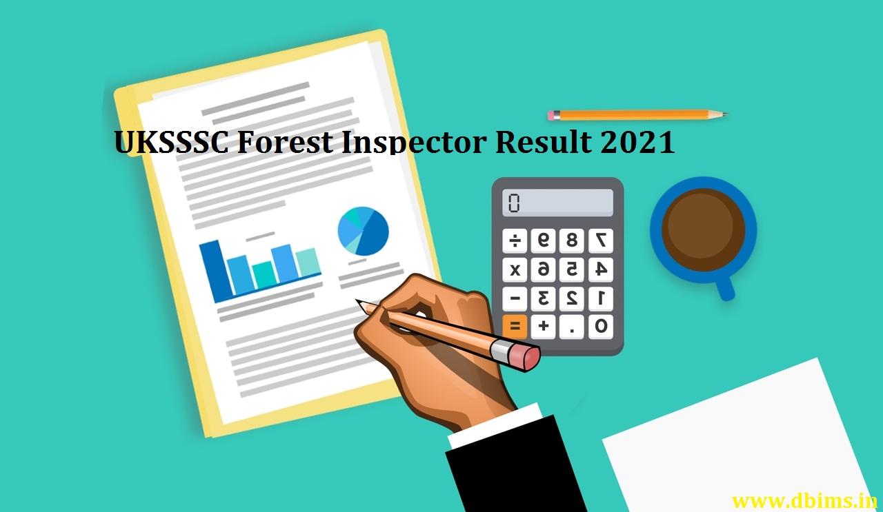 UKSSSC Forest Inspector Result 2021
