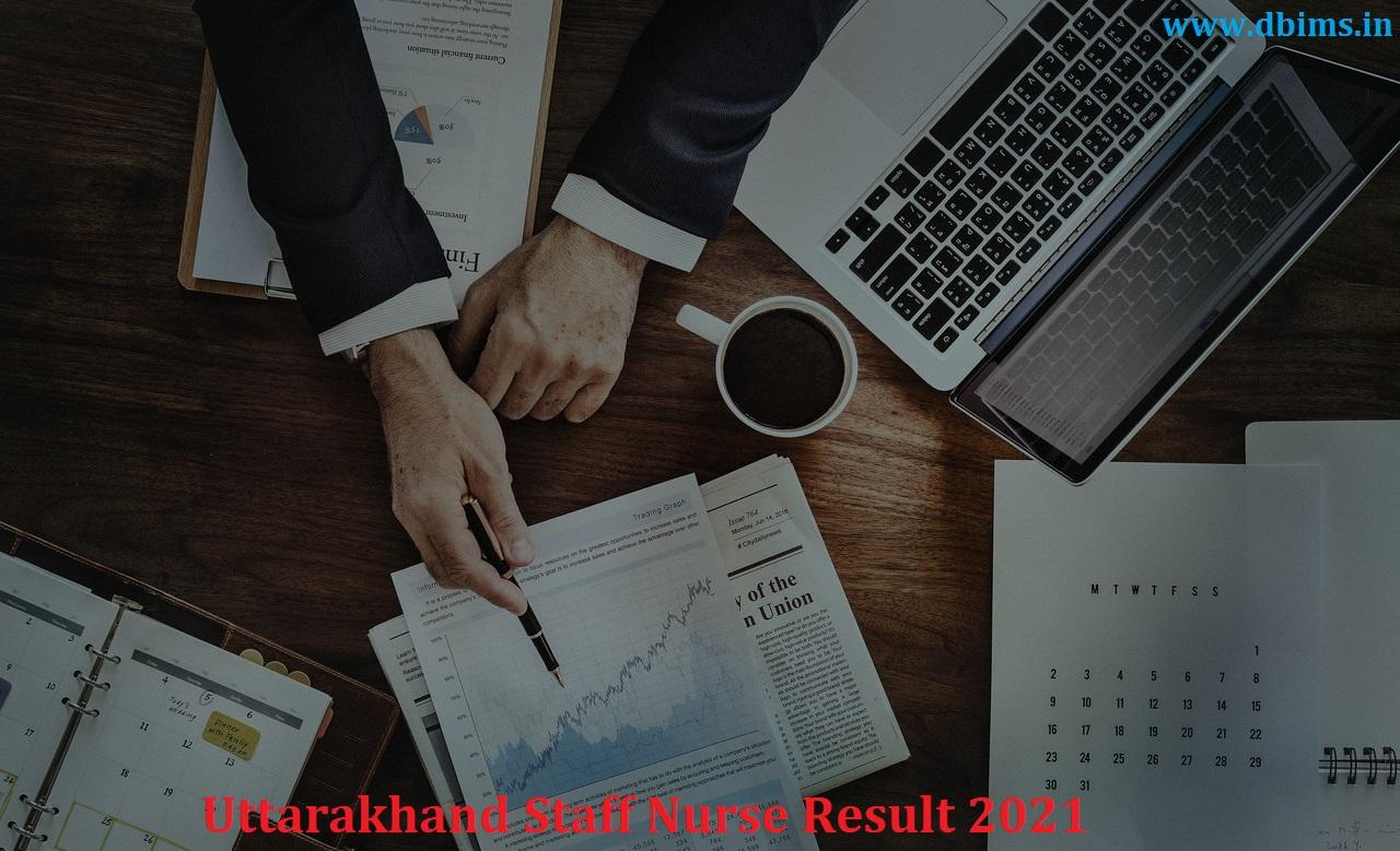 Uttarakhand Staff Nurse Result 2021