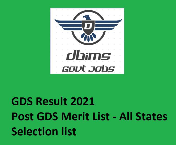 Maharashtra GDS Result 2021 - Maha GDS Merit List, Cut-off