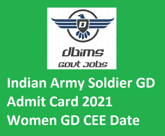 Indian Army Soldier GD Admit Card