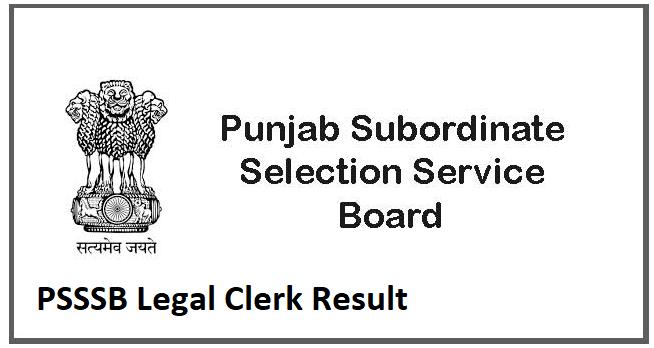 PSSSB Legal Clerk Result
