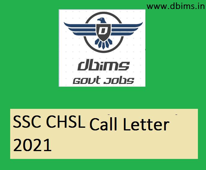 SSC CHSL Call Letter 2021
